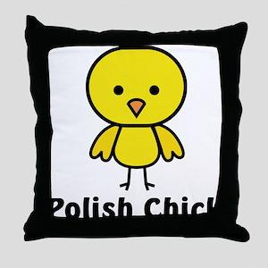 Polish Chick Throw Pillow