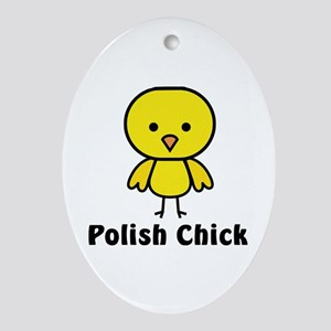 Polish Chick Oval Ornament