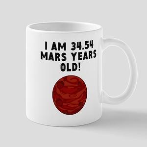 65th Birthday Mars Years Mugs