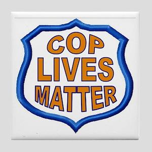 COP LIVES MATTER Tile Coaster