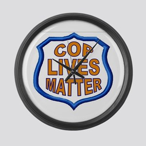 COP LIVES MATTER Large Wall Clock