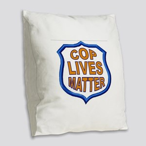 COP LIVES MATTER Burlap Throw Pillow