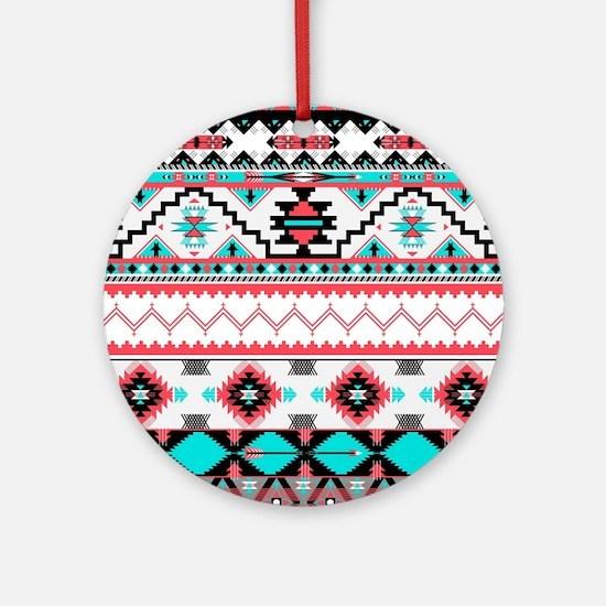 Aztec Pattern Round Ornament