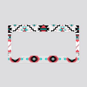Aztec Pattern License Plate Holder