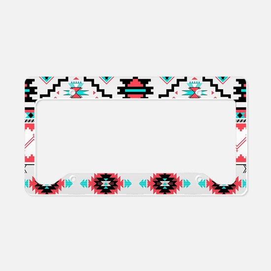 Aztec Pattern License Plate Holder