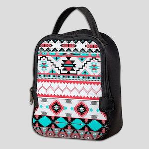 Aztec Pattern Neoprene Lunch Bag