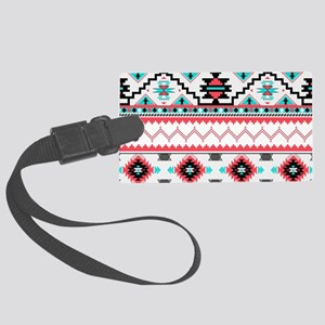 Aztec Pattern Luggage Tag