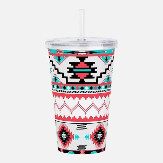 Aztec Pattern Acrylic Double-wall Tumbler
