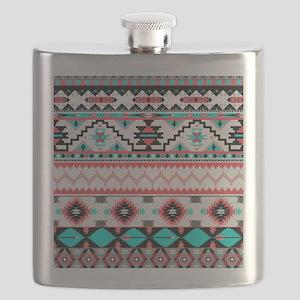 Aztec Pattern Flask