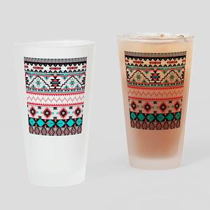 Aztec Pattern Drinking Glass