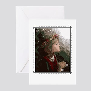Ziemsvetku - Meitene / Single Greeting Cards