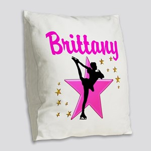 BEST SKATER Burlap Throw Pillow