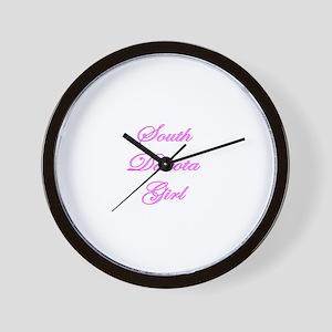 South Dakota Girl Wall Clock