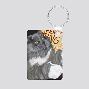 Percy King Takes on the Wo Aluminum Photo Keychain