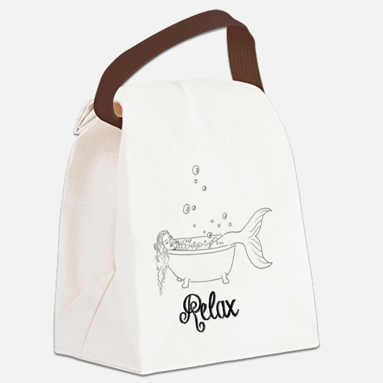 Relaxing Mermaid Canvas Lunch Bag