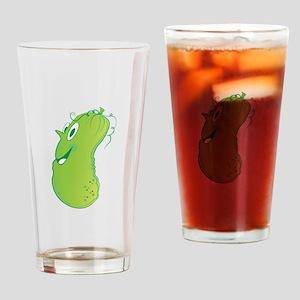 Happy Cucumber Drinking Glass