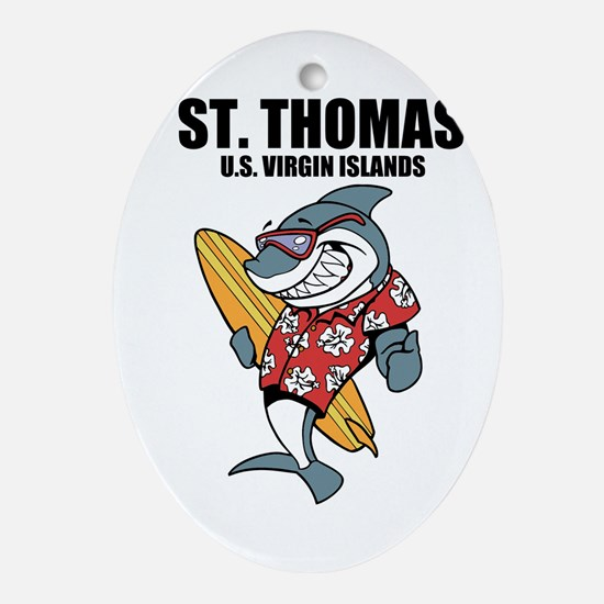 St. Thomas, U.S. Virgin Islands Oval Ornament