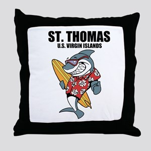 St. Thomas, U.S. Virgin Islands Throw Pillow