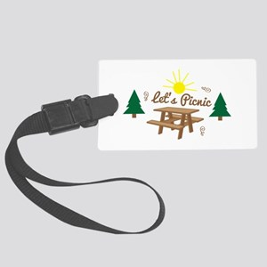 Lets Picnic Luggage Tag