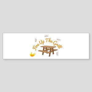 Fire Up Grill Bumper Sticker