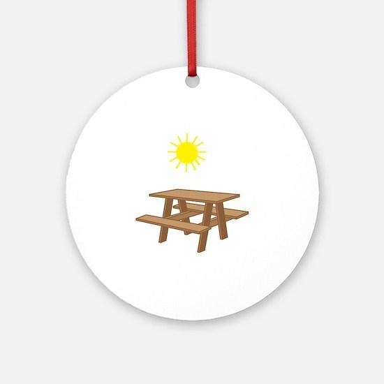 Picnic Table Round Ornament