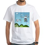 Drone Cartoon 9482 White T-Shirt