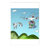 Drone Cartoon 9482 Postcards (Package of 8)
