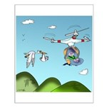 Drone Cartoon 9482 Small Poster