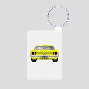 1967 Mustang Aluminum Photo Keychain