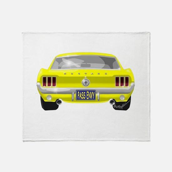 1967 Mustang Throw Blanket