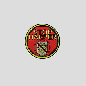Stop Harper Mini Button