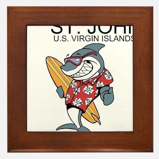St. John, U.S. Virgin Islands Framed Tile