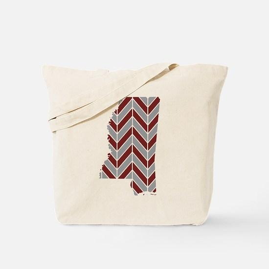 Mississippi State Chevron Tote Bag