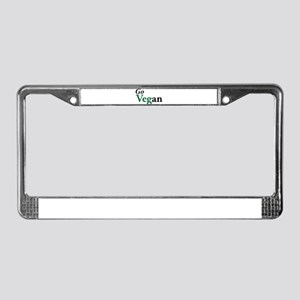 Go Vegan License Plate Frame