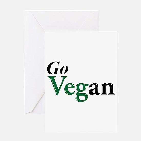 Go Vegan Greeting Cards