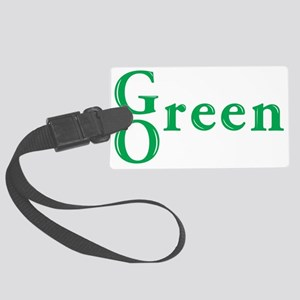 Go Green Large Luggage Tag