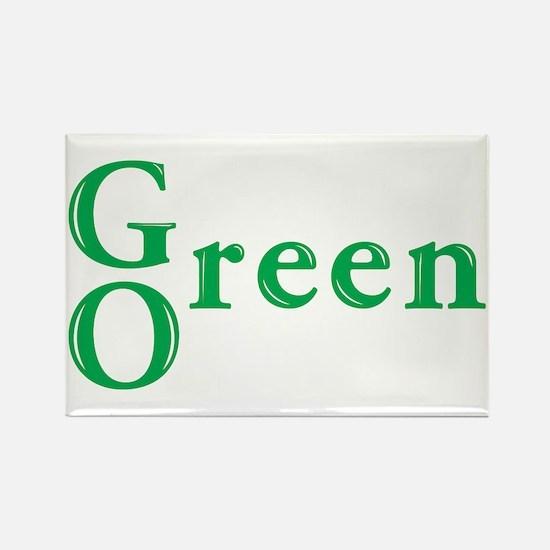 Go Green Rectangle Magnet