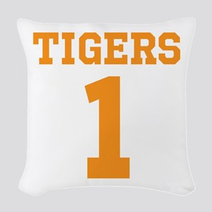 TIGERS 1 Woven Throw Pillow