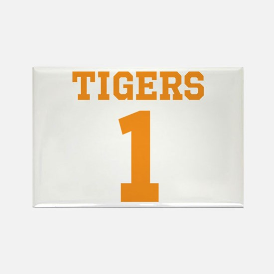TIGERS 1 Rectangle Magnet