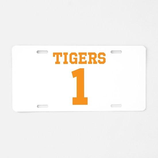 TIGERS 1 Aluminum License Plate