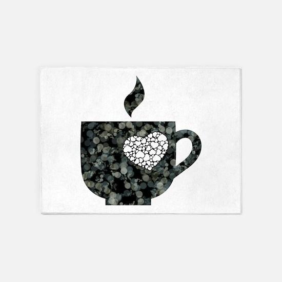 Cuppa Love 5'x7'Area Rug