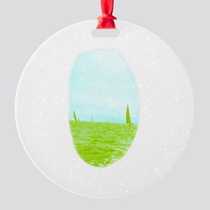 Peaceful Sailing Margaret's Fave Round Ornament