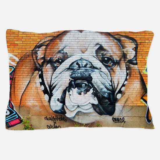 STREET ART BULLDOG ANIMAL PRINT Pillow Case