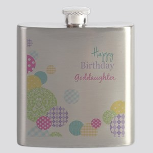 Happy Birthday God Daughter Flask