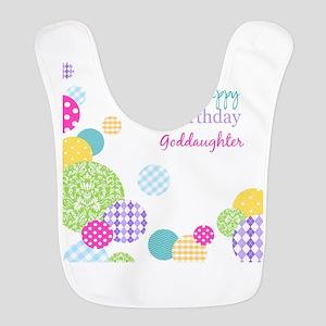 Happy Birthday God Daughter Bib