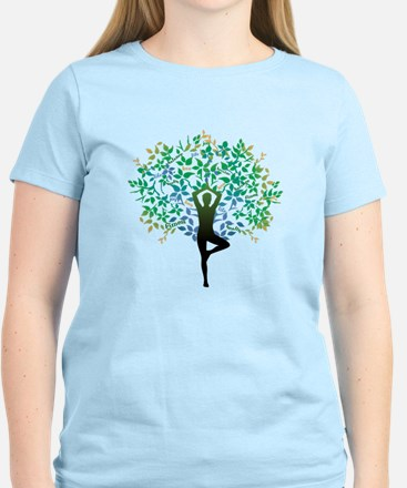 Yoga Tree Pose New T-Shirt