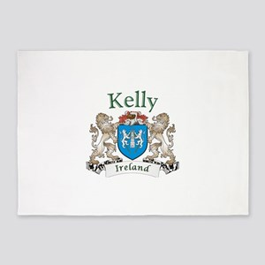 Kelly Irish Coat of Arms 5'x7'Area Rug