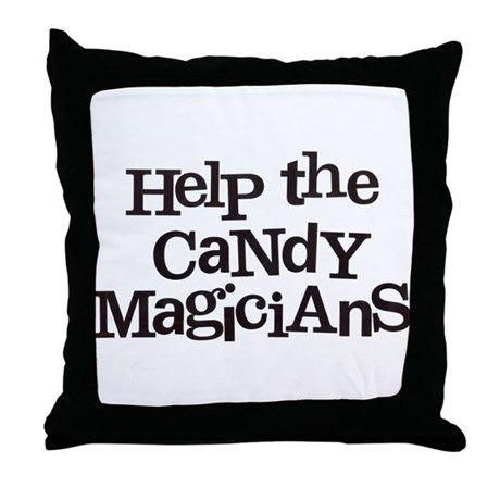 Help the Candy! Throw Pillow