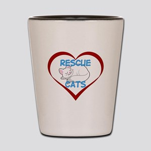 IHeart Rescue Cats Shot Glass
