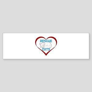 IHeart Rescue Cats Sticker (Bumper)